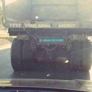 See Hilarious Warning Written On A Truck In Abuja (Photo)